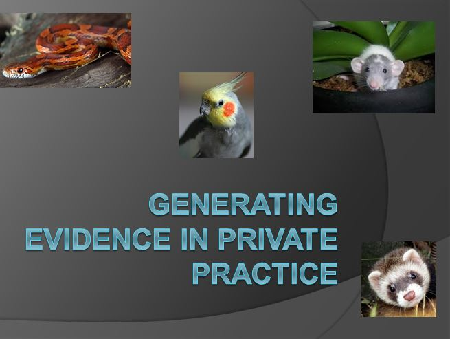 Generating Evidence in Private Practice to post title`