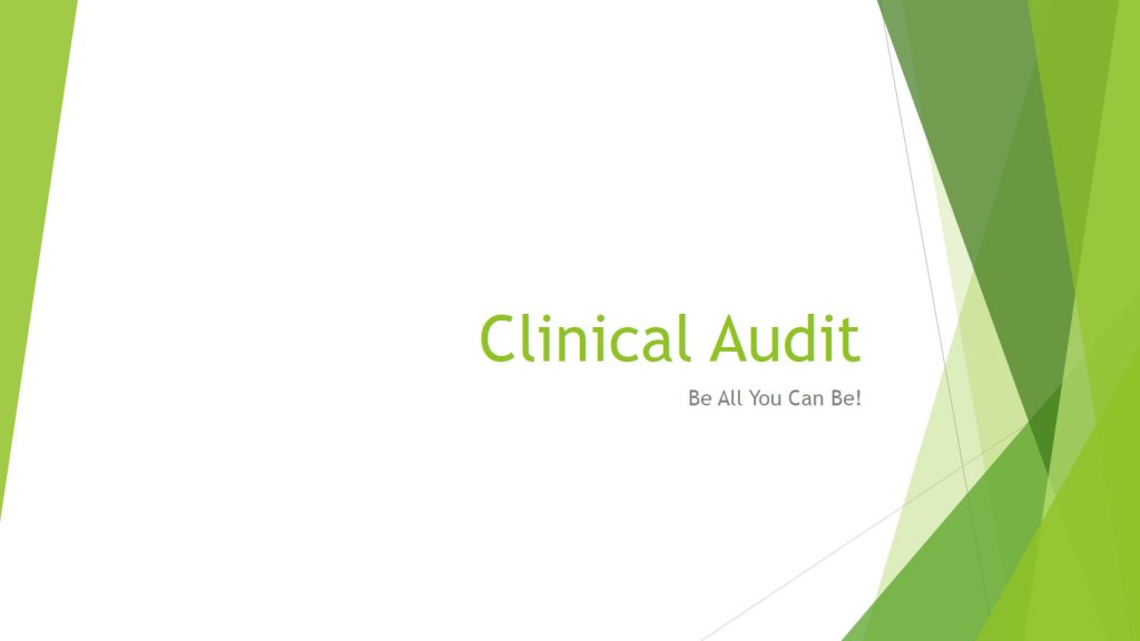 clinical audit title