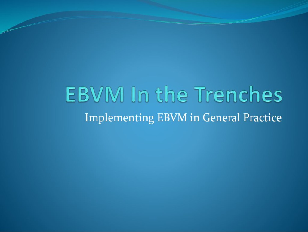 ebvm in the trenches title